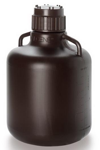 美国耐洁Nalgene琥珀色细口大瓶_HDPE 10L 聚丙烯盖2256-7020
