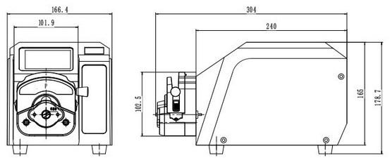 BT-100流量分配智能型蠕动泵,最大流量500ml/min