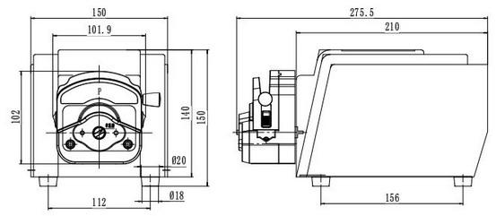BT-50基本型蠕动泵,最大流量250ml/min