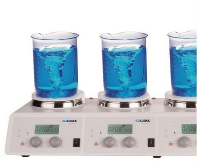美国进口赛洛捷克LCD数控加热型四通道磁力搅拌器MS-H340-S4