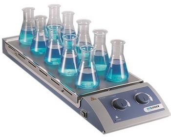 美国SCILOGEX赛洛捷克10工位加热磁力搅拌器MS-H-S10