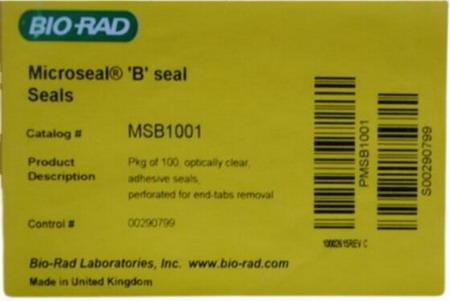 美国BIO-RAD伯乐荧光定量PCR板封板膜MSB1001