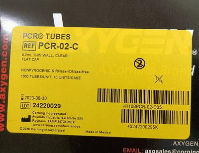 爱思进0.2mL透明PCR薄壁单管,带平盖