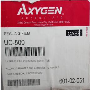 Axygen爱思进进口荧光定量透明封板膜UC-500